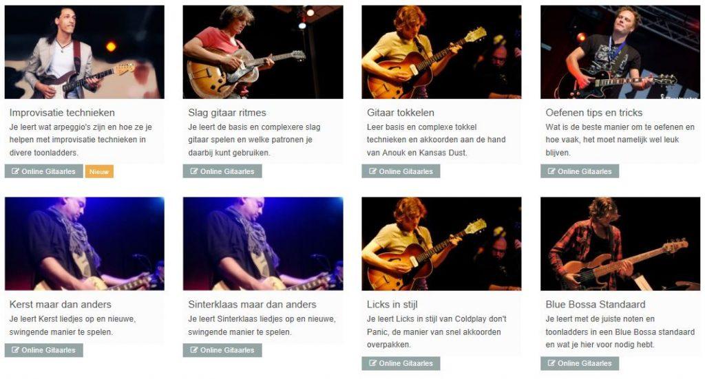 Soorten gitaarlessen van Gitaartabs.nl